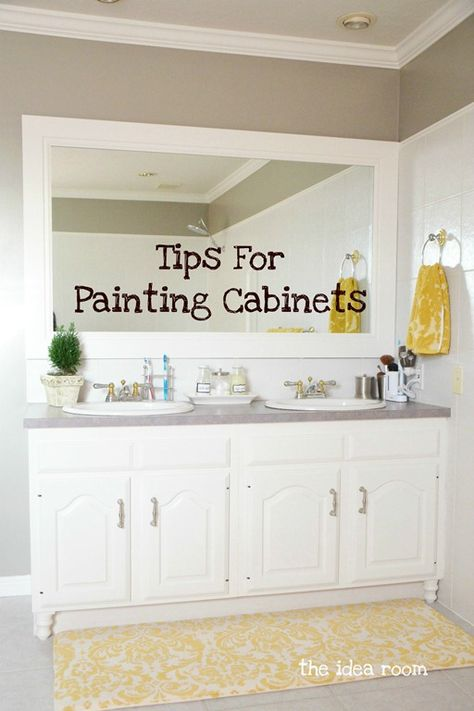 Tips and Tools for Painting your Cabinets via Amy Huntley (The Idea Room) ~~