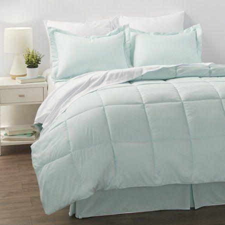 Noble Linens 8 Piece Bed in a Bag Bedding Set with BONUS Sheet Set