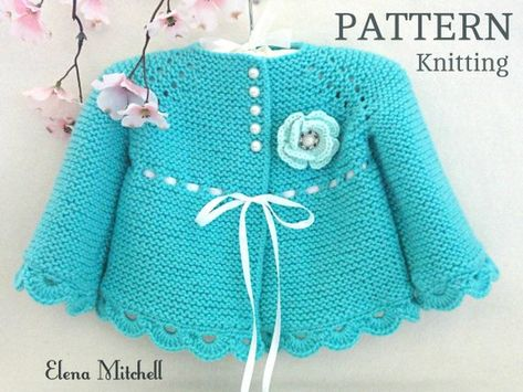 Knitting PATTERN Baby Jacket Crochet PATTERN Baby Dress Baby