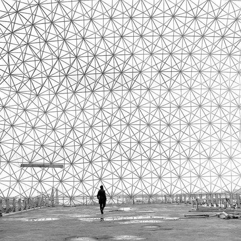 未来の曲線:バックミンスター・フラー | ドーム構造, ジオデシック ...