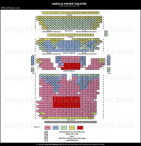 The Most Amazing And Also Interesting Harold Pinter Theatre Seating Plan Theater Seating How To Plan