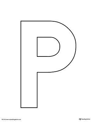 Uppercase Letter P Template Printable Alphabet Letters To Print Alphabet Letter Templates Printable Alphabet Letters