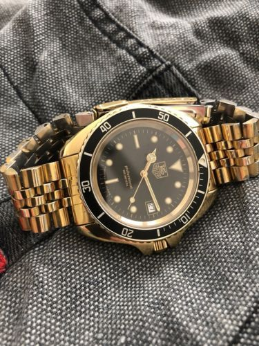 Tag Heuer 980.022 Vintage 1000 844 Wolf Of Wall Street Gold Large Submariner