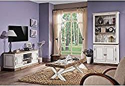 Wohnzimmer Komplett Set A Kilkis 3 Teilig Teilmassiv Farbe