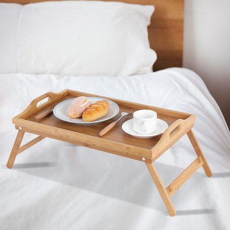 Home Bed Tray Bamboo Bedding Serving Table