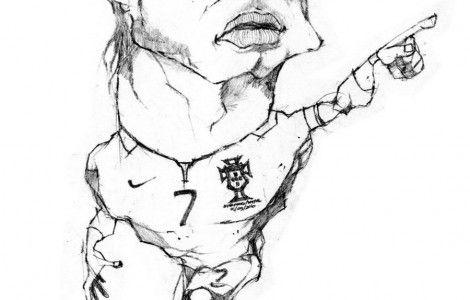 Christiano Ronaldo Coloring Page HD Wallpaper