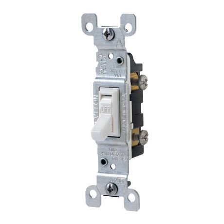 Leviton 15a 120v White Standard Single Pole Toggle Switch Walmart Canada Toggle Switch Leviton Walmart Paint