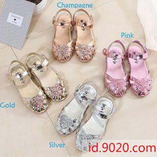 Sepatu Sandal Flat Princess Anak Perempuan Untuk Menari Pesta