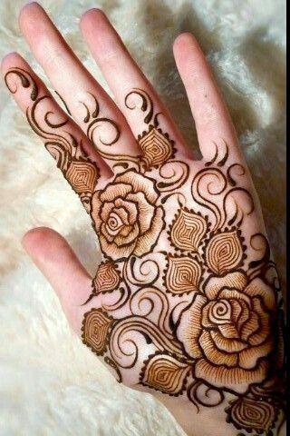 Latest Rose Henna Designs For Palms For Eid Ul Adha 2018 Rose