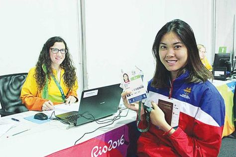 """Standing 5'9"""" in height, Cambodian Taekwondo medal hopeful Sorn Seamy is in Rio representing Cambodia in the 2016 summer Olympic games. She lead the Cambodian Olympic Team as the flag bearer. At the young  age of 19, she won Cambodia's first gold medal win at the 2014 Asian Games in 44 years in Incheon, S. Korea. She will compete on August 20 in Taekwondo Female +67kg division."""