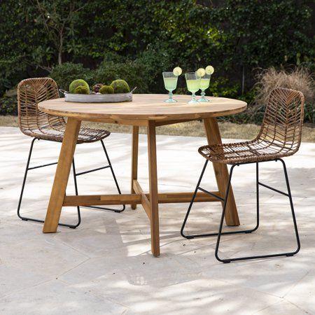 Patio Garden Round Outdoor Dining Table Outdoor Wood