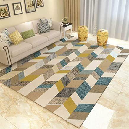 tapis bleu canard et jaune enredada
