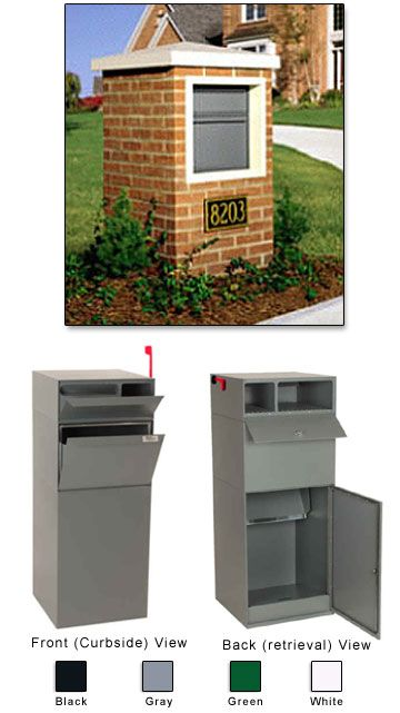Dvault Mailboxes Package Drops Mailboxes Residential Residential Mailboxes Brick Mailbox Outdoor Renovation