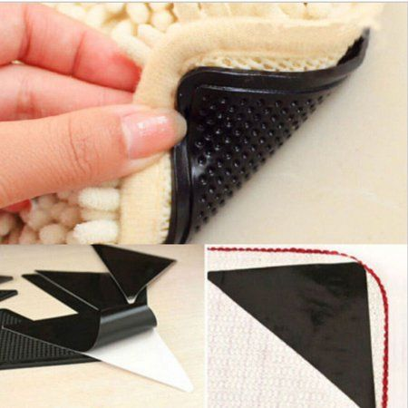 8 Pack Reusable Anti Skid Rubber Triangle Shaped Floor Carpet Mat Rug Gripper Stopper Tape Sticker For Kitchen Bathroom Walmart Com Rugs On Carpet Carpet Mat Floor Rugs