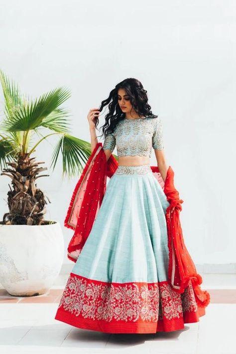 Indian Lehenga, Blouse Lehenga, Lehenga Indien, Half Saree Lehenga, Lehnga Dress, Raw Silk Lehenga, Lehenga Gown, Silk Sarees, Hipster Outfits