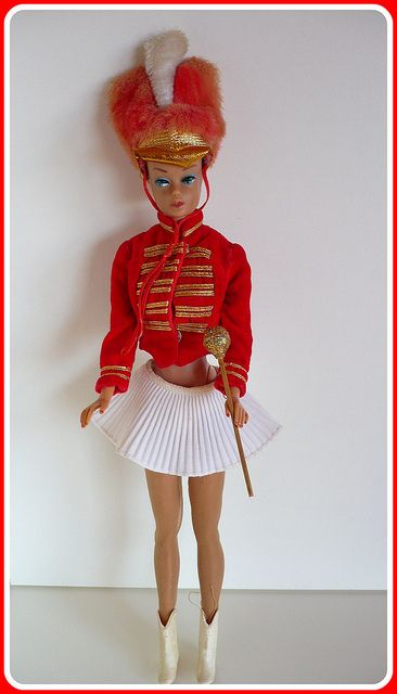Drum Majorette Barbie, 1963 by LadyGuinevere!, via Flickr