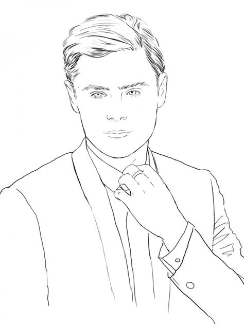 Zac Efron A Look At The Color Me Swoon Coloring Book Coloring