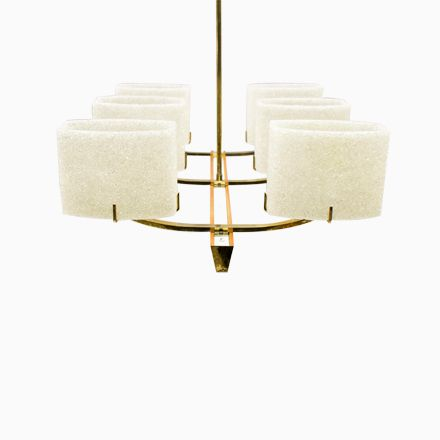 Mid-Century Deckenleuchte aus Holz  Messing, 1960er 灯饰 Pinterest - deckenleuchten für badezimmer