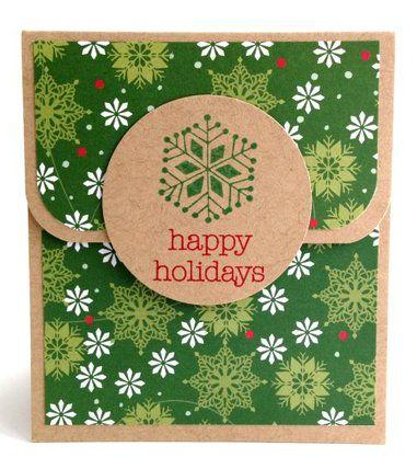 Holiday Gift Card Holder Holiday Gift Card Envelopes Etsy Holiday Gift Card Holders Holiday Gift Card Gift Card Holder