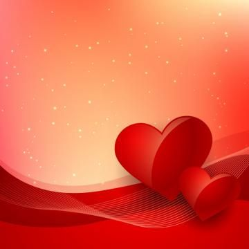 Love Background With Beautiful Red Wave Vector Design Illustration