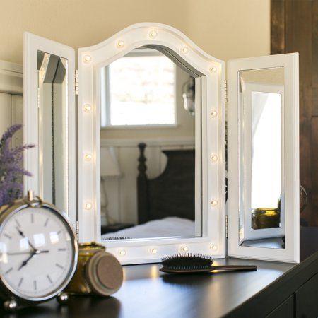 Home Lighted Vanity Mirror Tabletop Vanity Mirror Makeup
