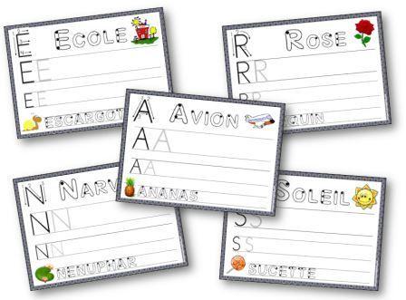 Fiches d'apprentissage de l'écriture des lettres capitales MS GS