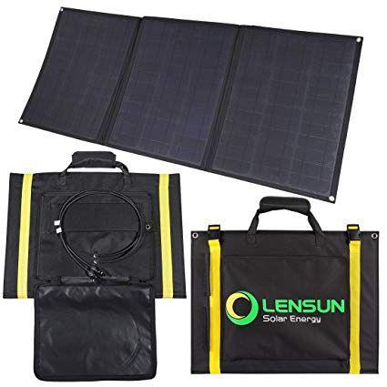 Lensun 100w Foldable Solar Panel 12v Ultralight Folding Solar Charger With Mc4 Solar Cables Ideal For Camping Van Solar Panels Solar Charger Rv Solar Panels