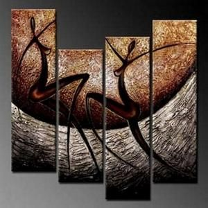 4 Piece Wall Art Abstract Figure Painting Wall Painting Acrylic Art Modern Wall Art Abstract Art Canvas Art Painting Hand Painting Art Modern Art For Sale