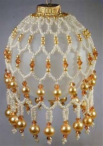 Image Result For Free Beaded Christmas Ornament Cover Patterns To