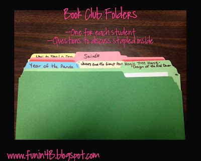 How to run book clubs in the classroom...terrific!
