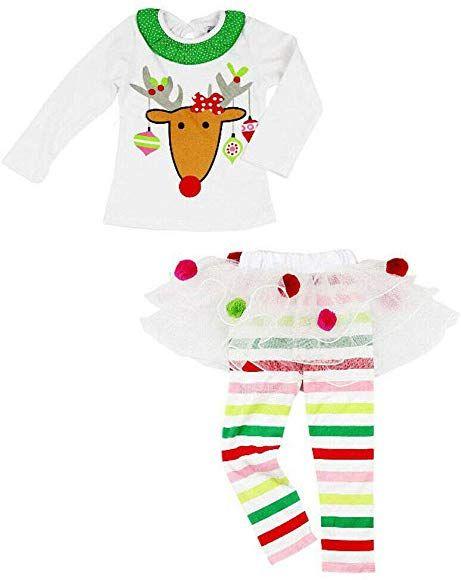 Toddler Infant Baby Boy Christmas Cartoon Deer T shirt Pants Clothes Outfits Set