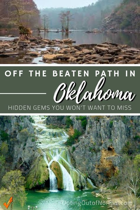 Hidden Gems in Oklahoma If you're taking a road trip or vacation to Oklahoma, check out our amazing list of things to do in this beautiful state. After you visit Tulsa, check out the landscape and his Camping Snacks, Camping Outfits, Route 66, Amazing Destinations, Travel Destinations, Travel Diys, Cool Places To Visit, Places To Travel, Vacation Places