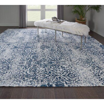 Orourke Abstract Ivory Navy Blue Area Rug Joss Main Blue Living Room Decor Navy Blue And Grey Living Room