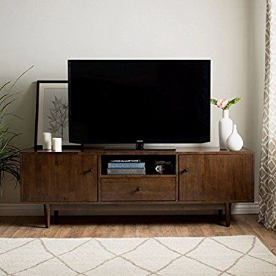 Amazon Com Mid Century Modern Tv Stand Provides Retro Style And Contemporary Living Room Entertainment Center Entertainment Center Mid Century Modern Tv Stand