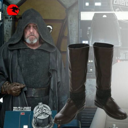HZYM Star Wars The Last Jedi Cosplay Poe Dameron Leather Boots Shoes Custom Made