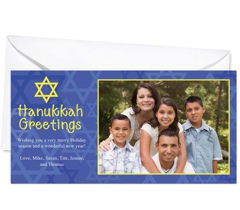 Photo Cards : Sabbath Jewish Holiday Photo Card Template