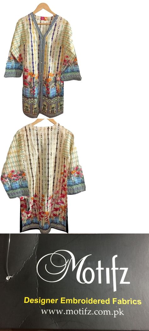 Kurta 155248: New, Motifz, Pakistani Ethnic Lawn Shirt, Kurta, Top Designer, Size Medium -> BUY IT NOW ONLY: $39.99 on eBay!