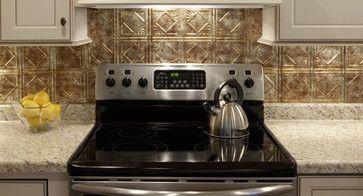 Punched Tin Backsplash Behind Stove Kitchen Traditional Kitchen Tile 1000 Traditional Kitchen Tiles Primitive Kitchen Punched Tin Backsplash