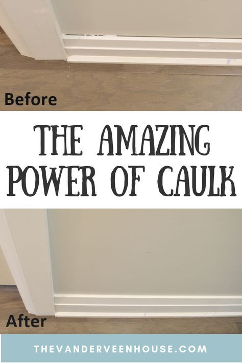 How To Caulk Trim The Amazing Power Of Caulk Renovation Home Remodeling Home Improvement Projects