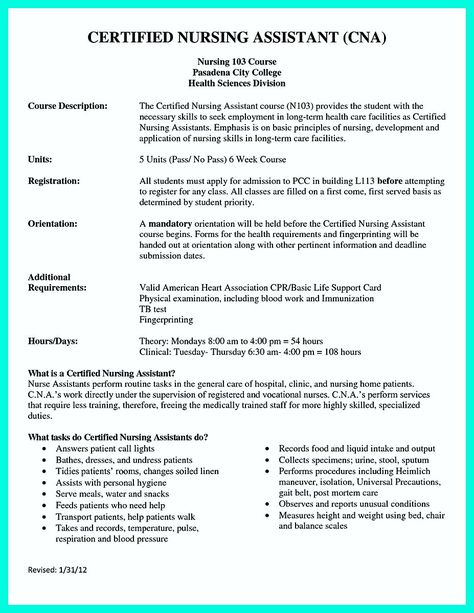 cool u201cMention Great and Convincing Skillsu201d, Said CNA Resume Sample - nursing assistant resume skills