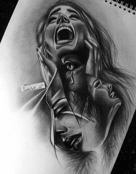 41 Best Ideas Dark Art Tattoo Faces In 2020 Dark Art Tattoo Dark Art Drawings Pencil Art Drawings