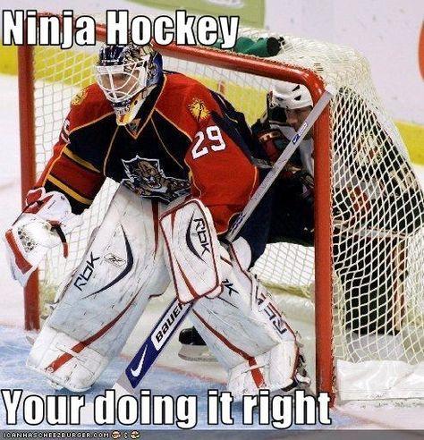 Ninja Hockey Your doing it right -