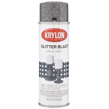 Starry Night Krylon Glitter Blast Spray Paint In 2020 Glitter Blast Spray Paint Krylon Glitter Blast Spray Painted Bottles