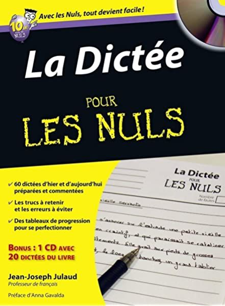 Amazon Fr Cahier De Dictees Pour Les Nuls Grand Format Julaud Jean Joseph Livres Dictee Telechargement Livres A Lire