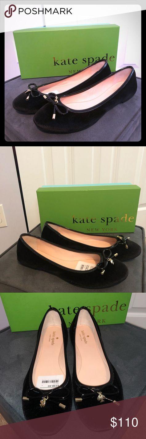 35b940305fd7 Kate Spade Willa Black Velvet Flat Stunning Kate Spade New York velvet ballerina  flat with patent