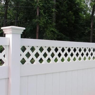 Weatherables Ashton 8 Ft H X 6 Ft W White Vinyl Privacy Fence Panel Kit Pwpr Lat 8x6 The Home Depot 10 In 2020 White Vinyl Fence Vinyl Privacy Fence Fence Panels