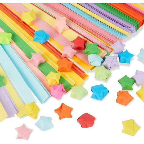 Origami Star Paper Strips, Double Sided, 15 Colors (2400 Sheets)