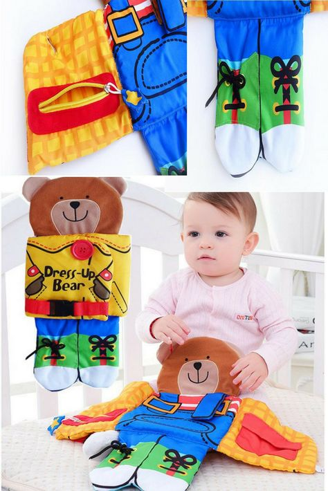 Infant Cloth Book Baby Toys Teether Early Education Kids Book Soft Rattles H