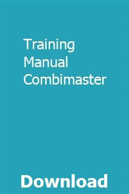 Training Manual Combimaster Instructional Design Manual Computer Numerical Control