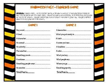 Halloween Game Grades 3 12 By Keep Calm And Teach Teachers Pay